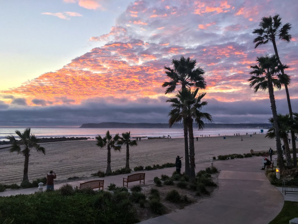 Sunset on Coronado Island Beach