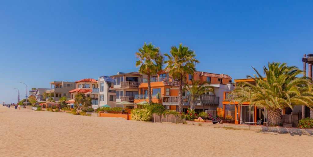 Beachfront houses in San Diego